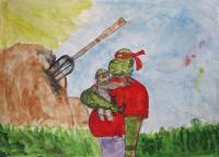 Черепашка-папа с сыном