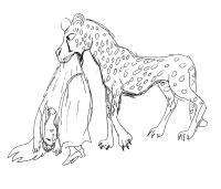 Девочка в пасти гепарда