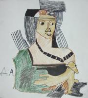 Дама с горностаем (копия)